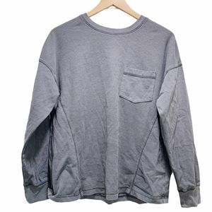 Wild Fable Grey Henley Thermal Long Sleeve Shirt